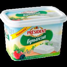 Свежие сыры  Брынза President