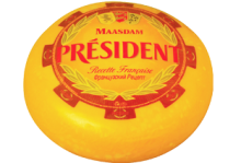 Твёрдый сыр Мааздам President